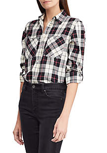 Twill Plaid Shirt