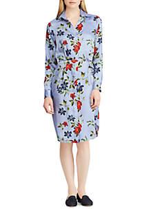 Print Twill Shirt Dress