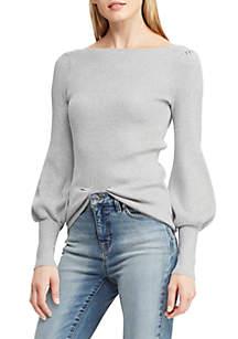 Puffed-Sleeve Sweater