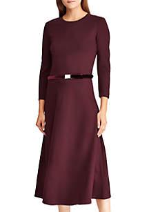 Belted Ponte Dress