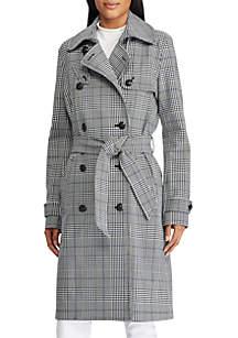 Glen Plaid Trench Coat
