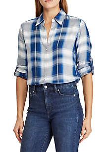 Lauren Ralph Lauren Plaid Twill Shirt