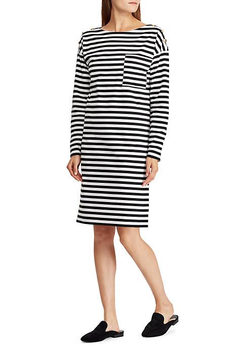 Lauren Ralph Lauren Cotton Striped T-Shirt Dress