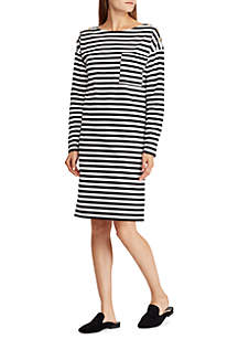 Cotton Striped T-Shirt Dress