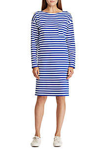 Cotton Striped T-Shirt Dress