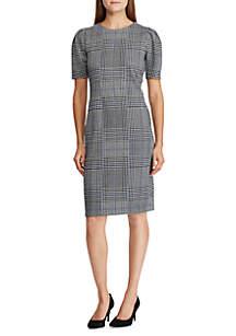 Glen Plaid Jacquard Knit Dress
