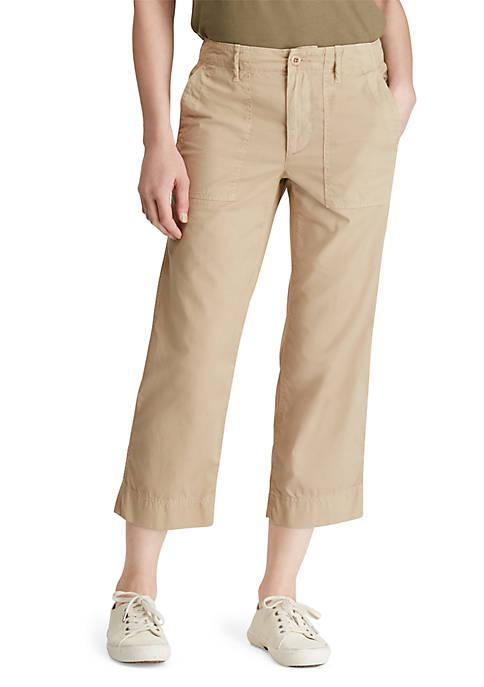 Lauren Ralph Lauren Cotton Twill Straight Pants