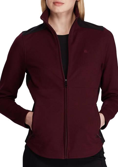 Lauren Ralph Lauren Color Blocked Cotton Blend Jacket