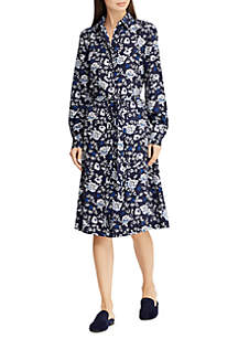 Lauren Ralph Lauren Printed Crepe Shirt Dress