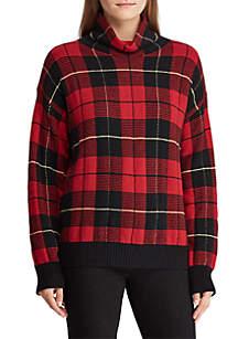 Wool-Blend Funnelneck Sweater