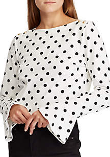 Cotton Bell-Sleeve Top