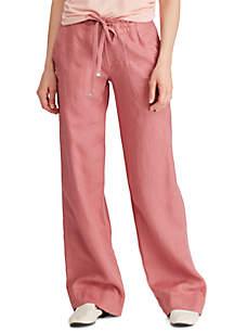 Lauren Ralph Lauren Linen Wide Leg Pants