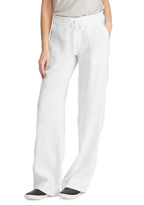 Lauren Ralph Lauren Linen Wide-Leg Pant