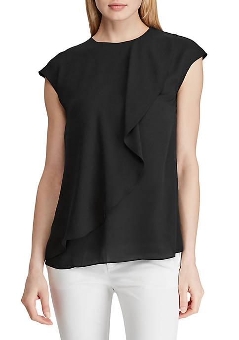 Lauren Ralph Lauren Ruffled Cap Sleeve Top