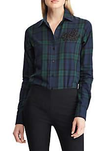 LRL-Patch Tartan Cotton Shirt