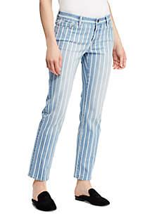 Stripe-Wash Estate Jean