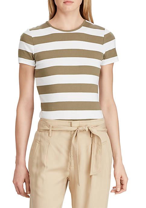 Lauren Ralph Lauren Striped Cotton Tee
