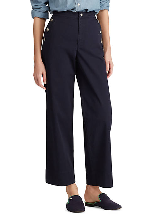 Lauren Ralph Lauren Cotton Blend Twill Pants