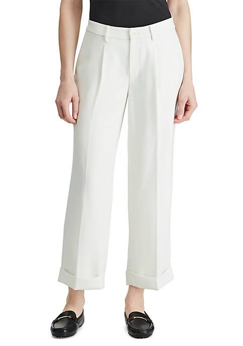 Roll-Cuff Wide-Leg Pant