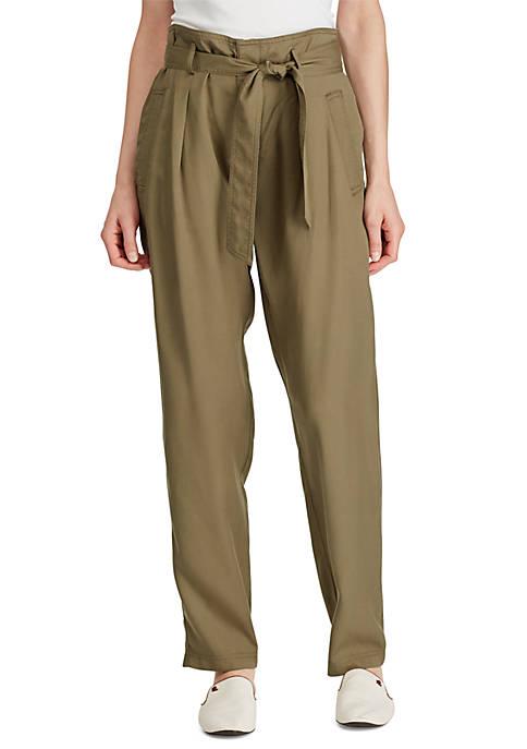 Lauren Ralph Lauren Belted Twill Pants