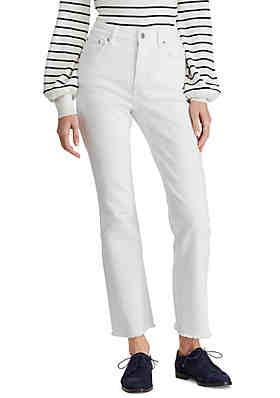 5af467086fba9 Lauren Ralph Lauren Regal Flare Ankle Jeans ...