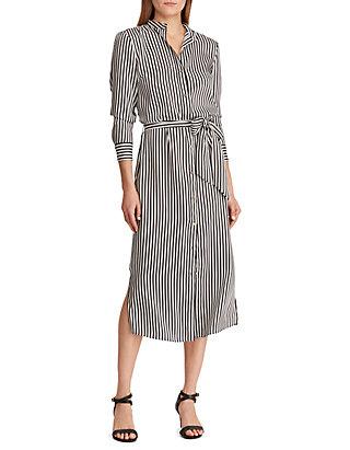 0fa7ddedf94 Lauren Ralph Lauren. Lauren Ralph Lauren Striped Twill Shirtdress