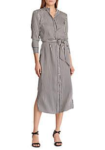 d742f4ca337e ... Lauren Ralph Lauren Striped Twill Shirtdress