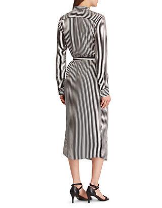 d120a0f1600a Lauren Ralph Lauren Striped Twill Shirtdress