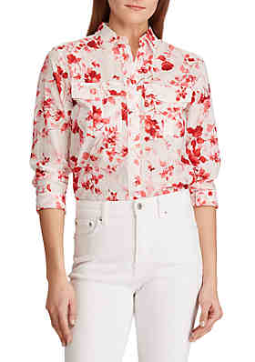 b0cdb8d033101 Lauren Ralph Lauren Floral Cotton Shirt ...