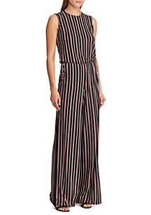 457f51e27098 ... Lauren Ralph Lauren Striped Button-Trim Jumpsuit