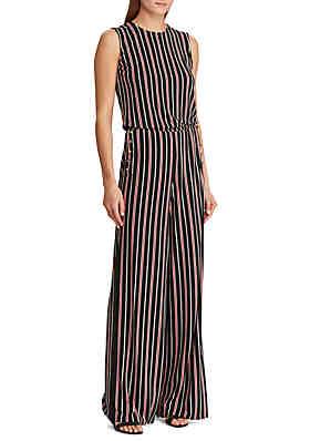 1a528310ae56 Lauren Ralph Lauren Striped Button-Trim Jumpsuit ...