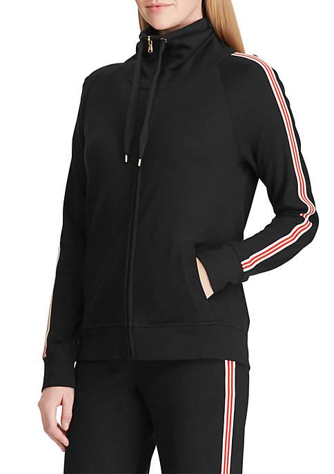 Lauren Ralph Lauren Cotton Funnel Neck Jacket