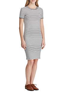 Lauren Ralph Lauren Button-Shoulder Cotton Shirtdress