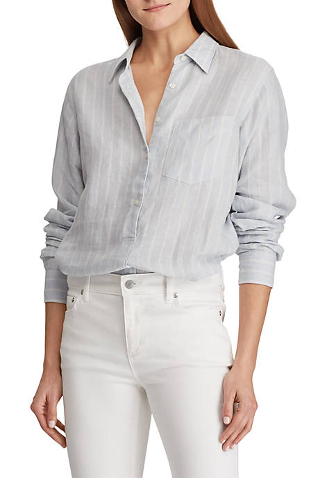 Lauren Ralph Lauren Linen Long Sleeve Shirt