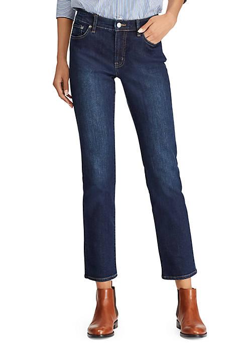 Lauren Ralph Lauren Dark-Wash Modern Straight Curvy Jean