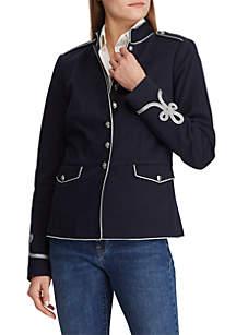 Lauren Ralph Lauren Soutache Trim Officer's Jacket