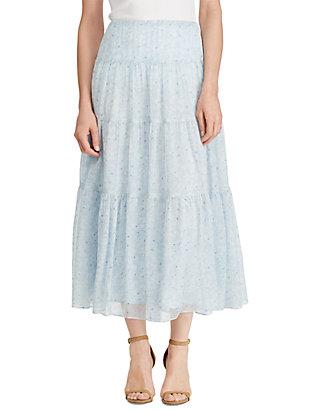 261f6272e3 Lauren Ralph Lauren. Lauren Ralph Lauren Floral Georgette Peasant Skirt