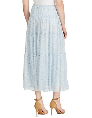 d4a83f60a3 Lauren Ralph Lauren Floral Georgette Peasant Skirt Lauren Ralph Lauren  Floral Georgette Peasant Skirt ...