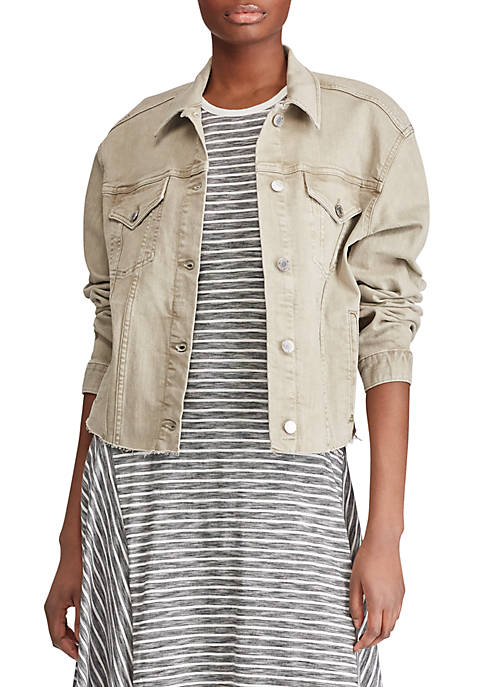 Lauren Ralph Lauren Cropped Denim Jacket
