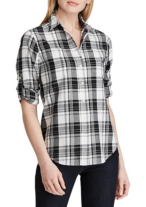 Lauren Ralph Lauren Plaid Twill Button-Down Shirt