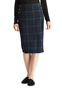 Plaid Knit Jacquard Skirt