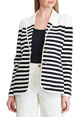 e6d663606 Lauren Ralph Lauren Striped Cotton-Blend Blazer ...