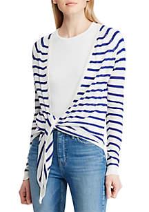 Lauren Ralph Lauren Striped Linen-Blend Sweater