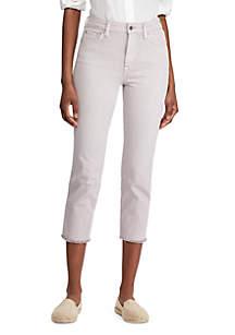 Lauren Ralph Lauren Regal Straight Crop High Rise Jeans