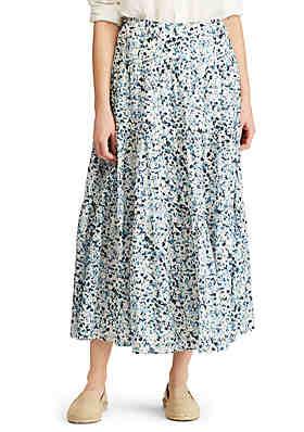 b69df6774 Lauren Ralph Lauren Tiered Cotton Peasant Skirt ...