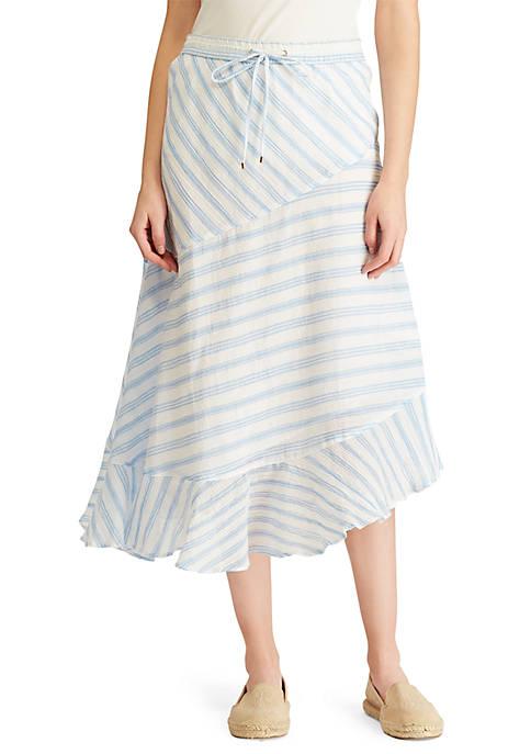 Crinkled Cotton Peasant Skirt