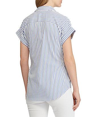 f9cecef6848 ... Lauren Ralph Lauren Striped Tie Front Cotton Shirt ...