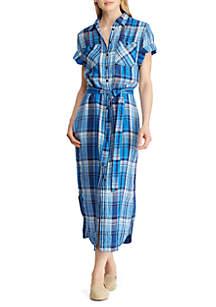 Lauren Ralph Lauren Plaid Belted Shirtdress