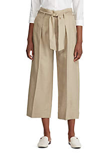 Lauren Ralph Lauren Linen Blend Wide Leg Pants