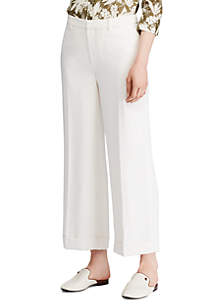 Lauren Ralph Lauren Twill Wide Leg Pants
